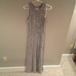 LOFT Gray Long Maxi Dress XS